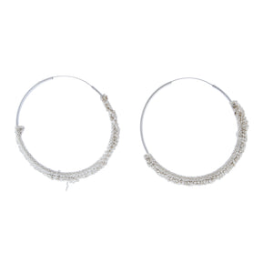 Circlet Hoops in Silver