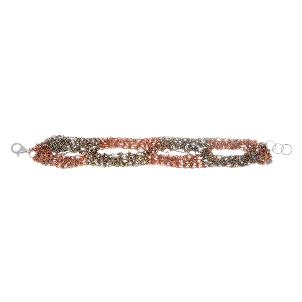 Blaze Bracelet in Rose Gold + Haze