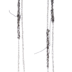 Melded Simple Necklace in Silver + Faded