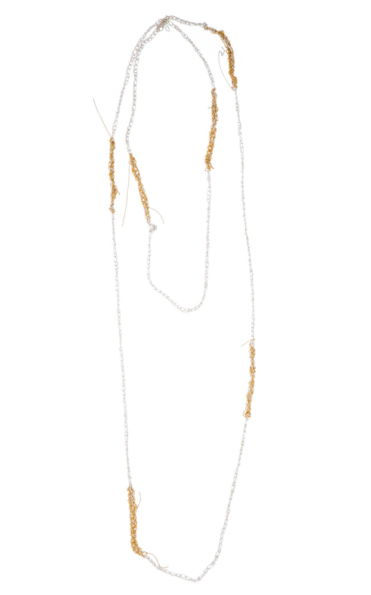 Melded Simple Necklace in Silver + Gold