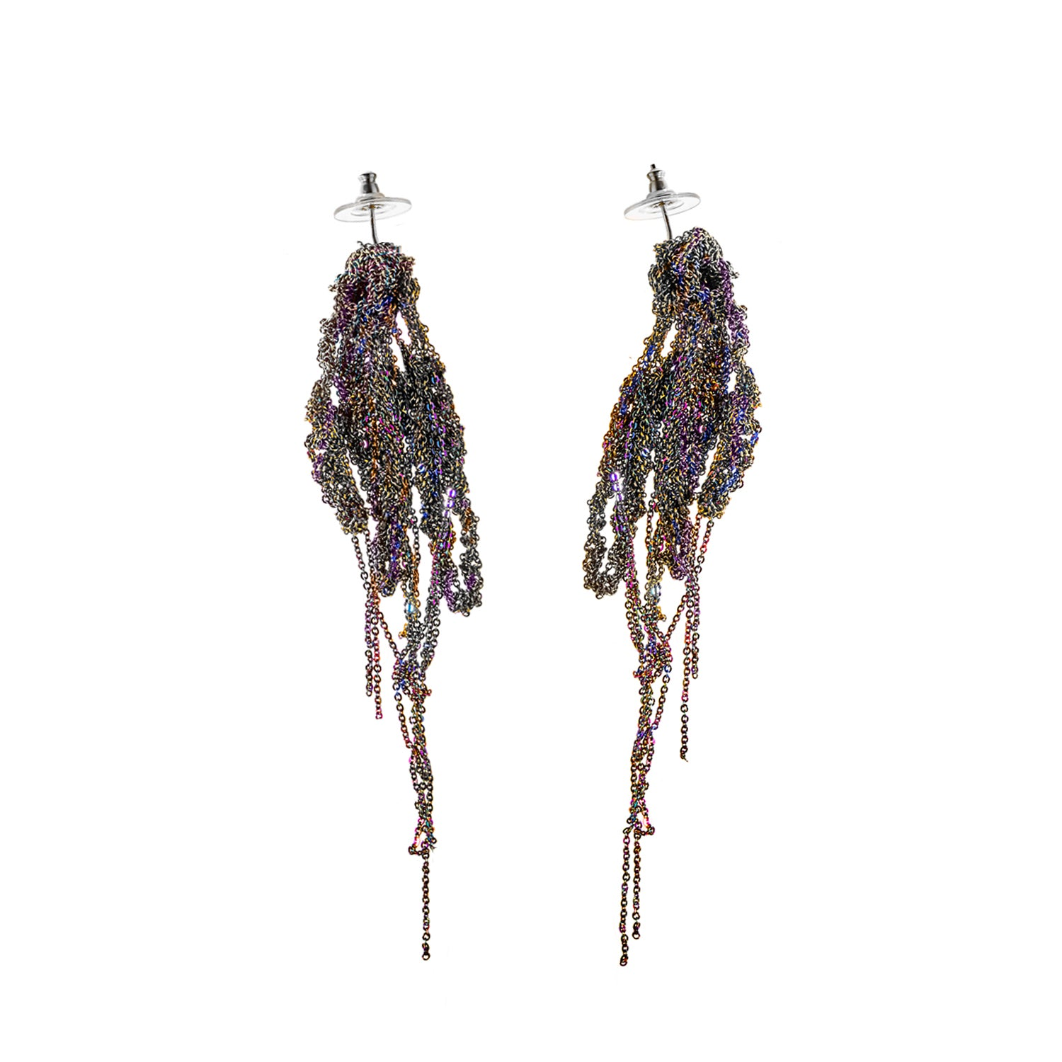 Hairy Drip Earrings in Spectrum