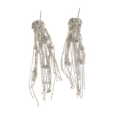 - Hairy Drip Earrings - Silver -