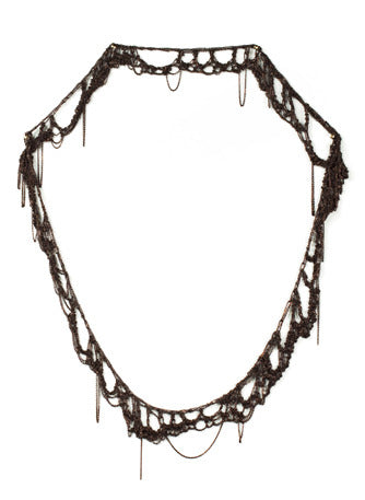 Torn Lace Necklace