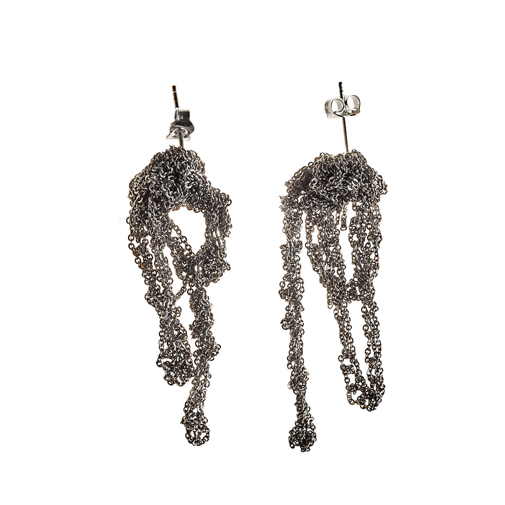 Drip Earrings in Ash