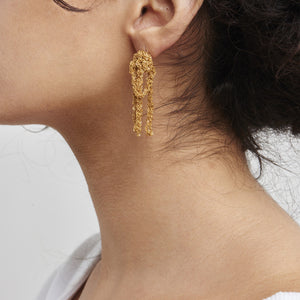 Drip Earrings in Gold