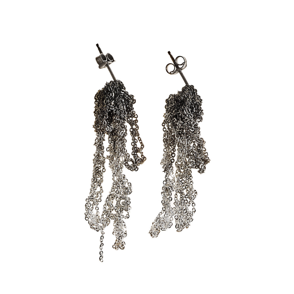 Drip Earrings in Silver Gradient