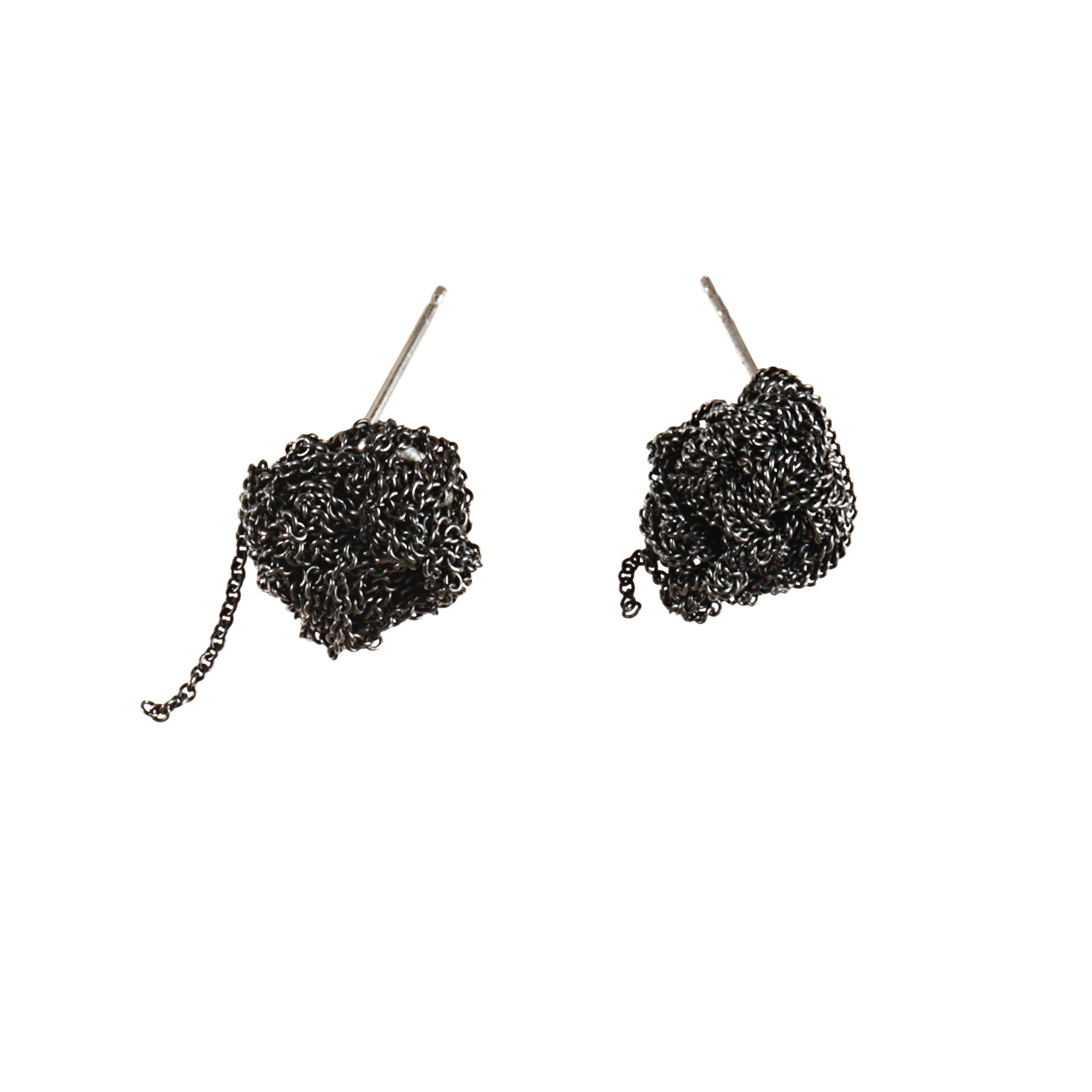 Bead Earrings in Charcoal