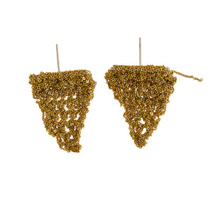 Triangle Flag Earrings in Gold