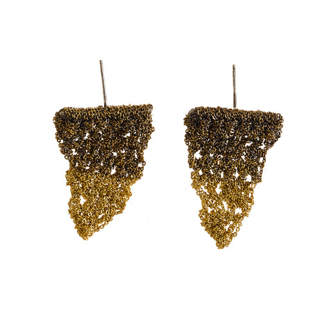 - Triangle Flag Earrings - Gold Gradient -
