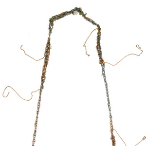 Hairy Simple Necklace in Spectrum + Burnt Gold