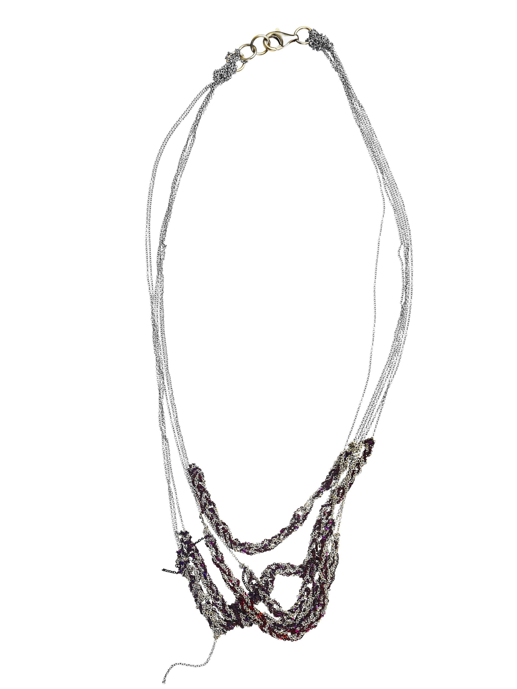 5-Tiered Bare Chain in Ash + Plum