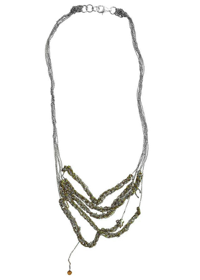 5-Tiered Clasped Bare Chain in Ash + Lichen