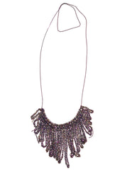 - String Fringe Necklace - Spectrum -