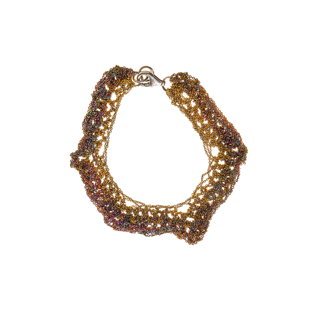 Zig Zag Bracelet in Burnt Gold + Spectrum