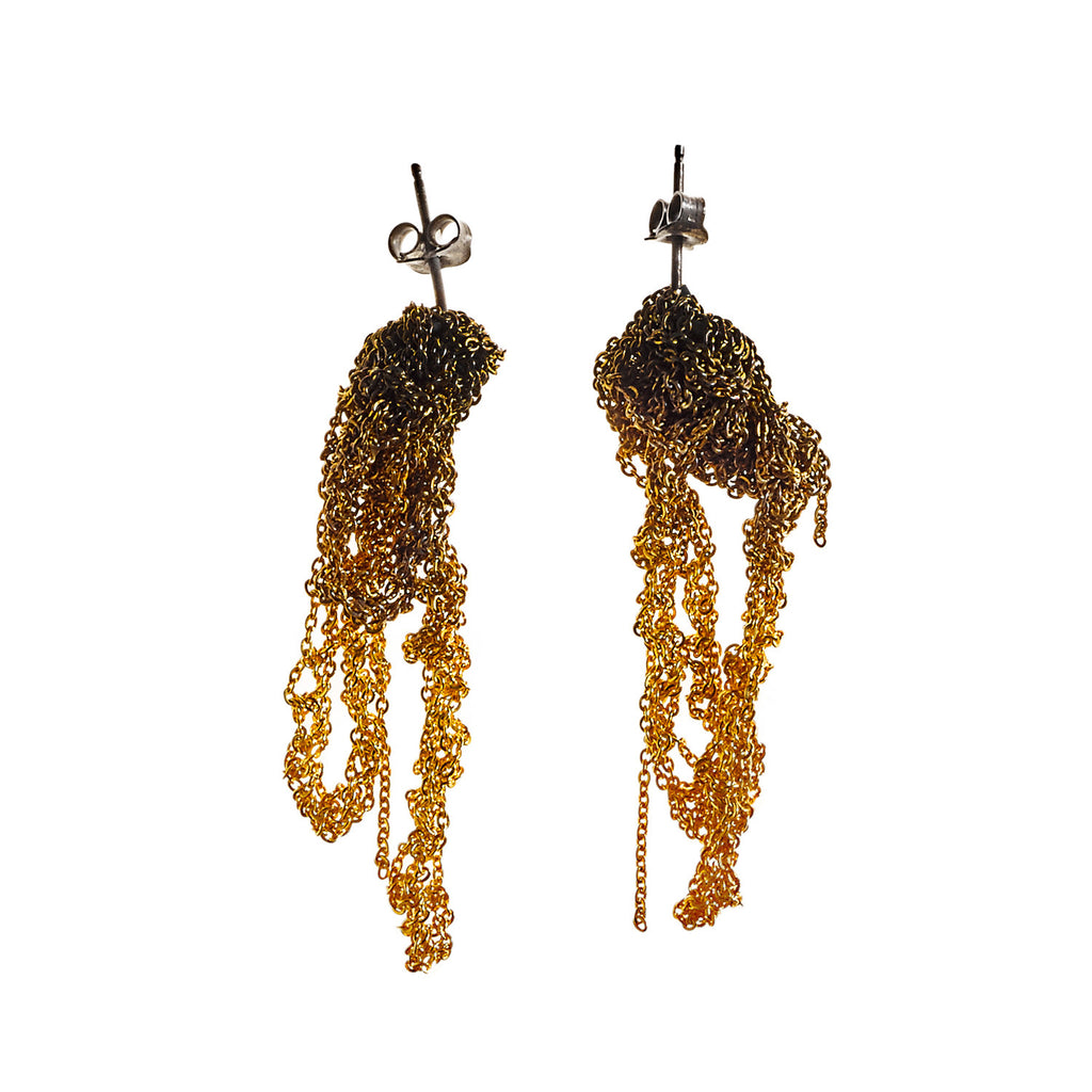 Drip Earrings in Gold Gradient