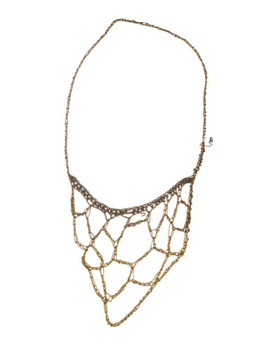 - Web Necklace - Gold Gradient -