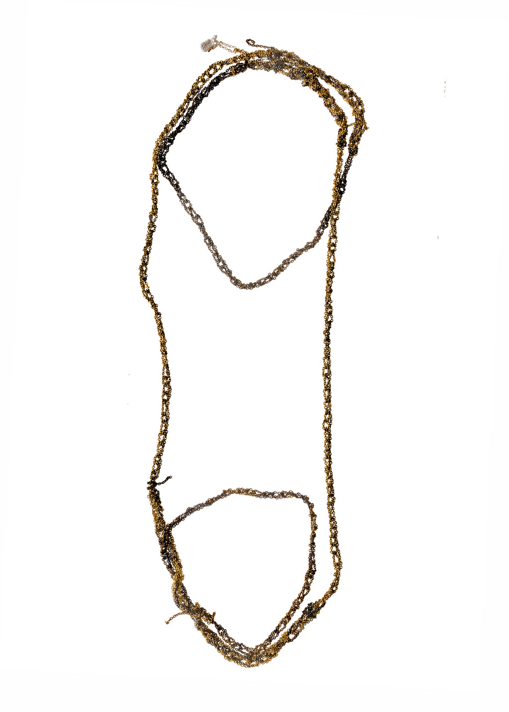 Melded Simple Necklace in Burnt Gold