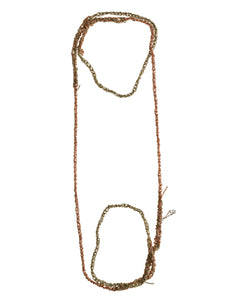 4-Tone Simple Necklace in Haze + Rose Gold