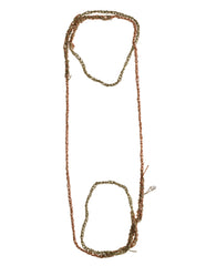 - 4-tone Simple Necklace - Haze + Rose gold -