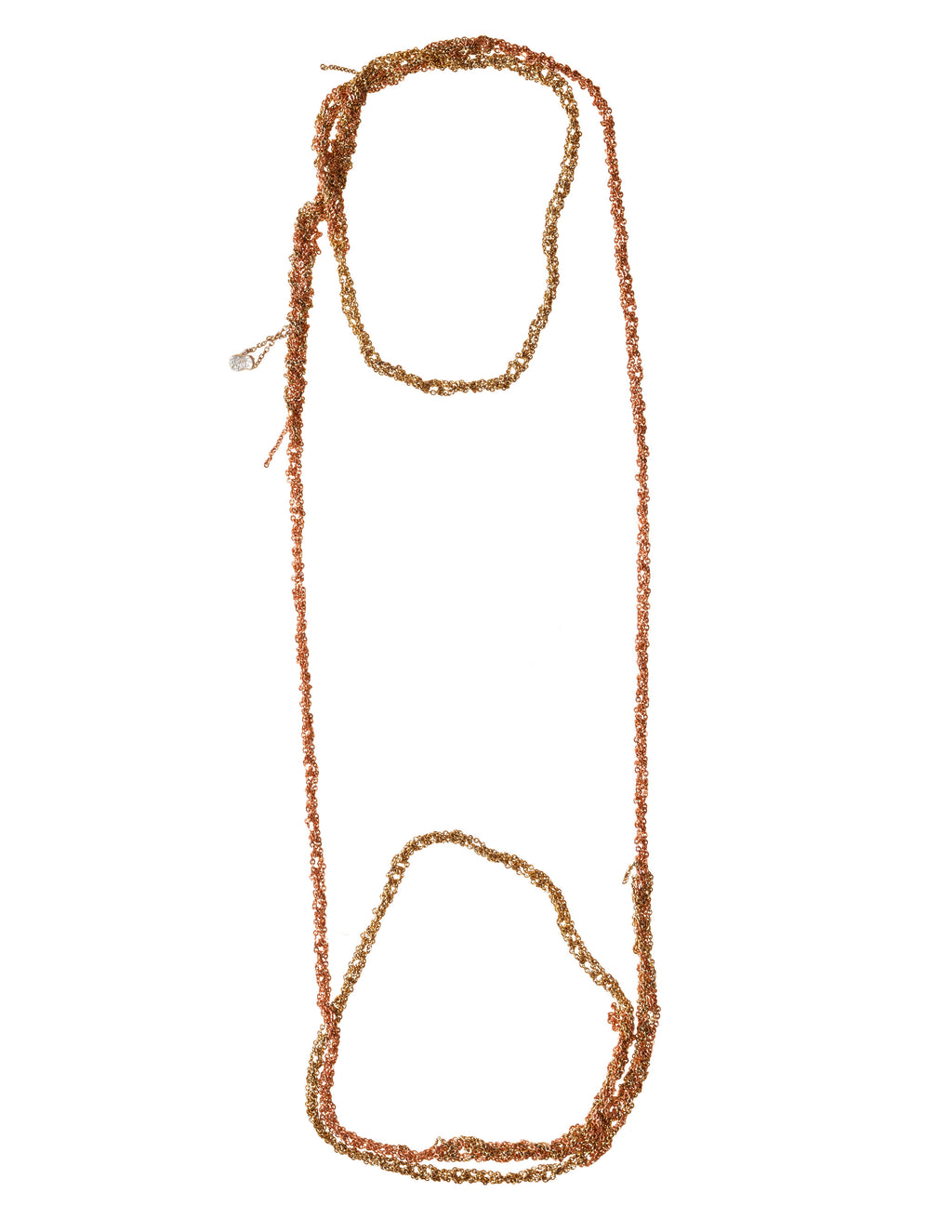 4-Tone Simple Necklace in Gold + Rose Gold