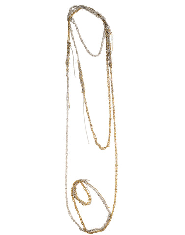 4-Tone Simple Necklace (60'') - SS15