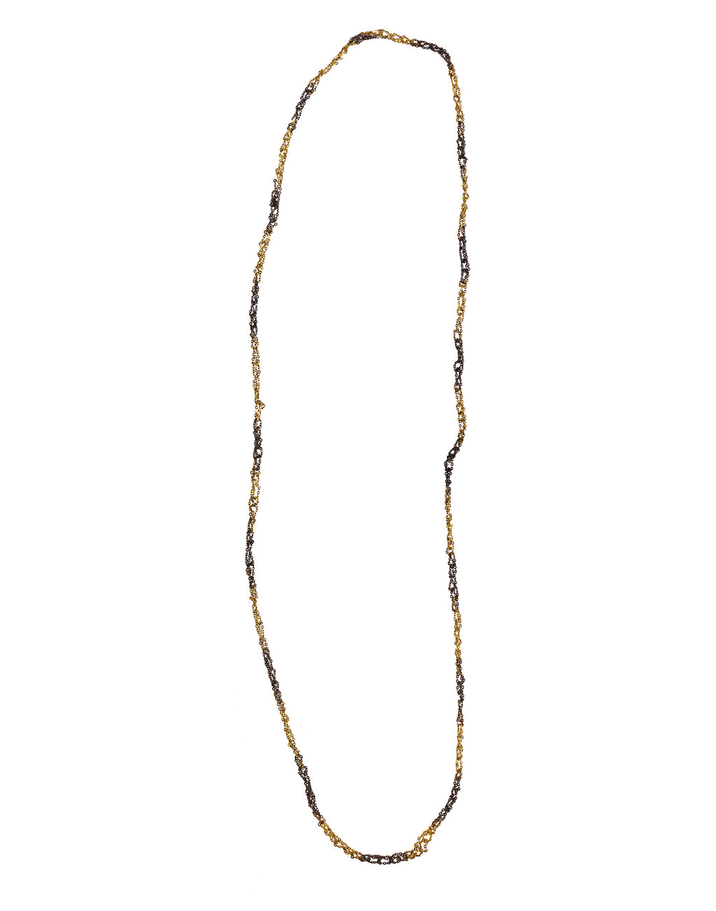 Simple Necklace in Gold Dalmatian