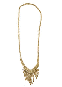 Small Fringe Necklace in Haze