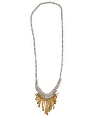 - Small Fringe Necklace - Silver + Gold -