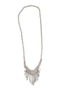 Small Fringe Necklace in Silver