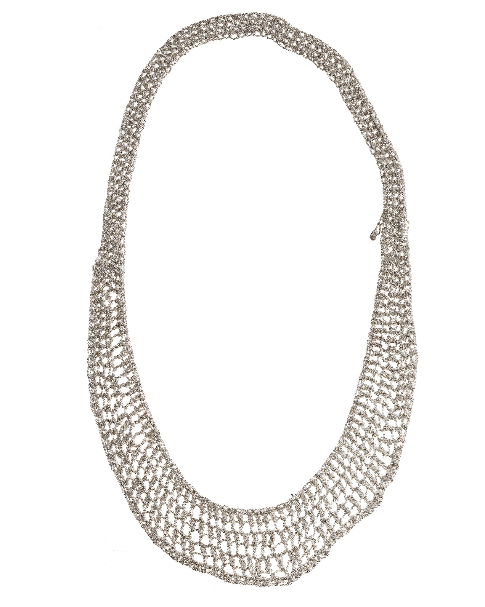 Lattice Collar in Silver
