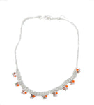 Beaded Garland Necklace in Silver w/ Terasse Beads