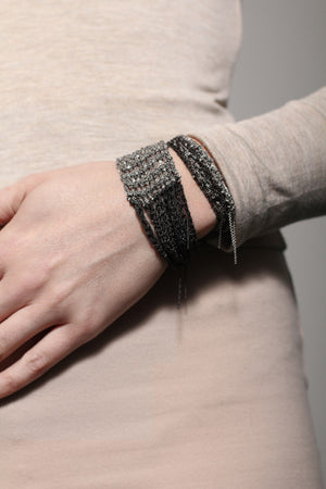 The Buxom Bracelet in Silver + Rose Gold w/ Brass Clasp