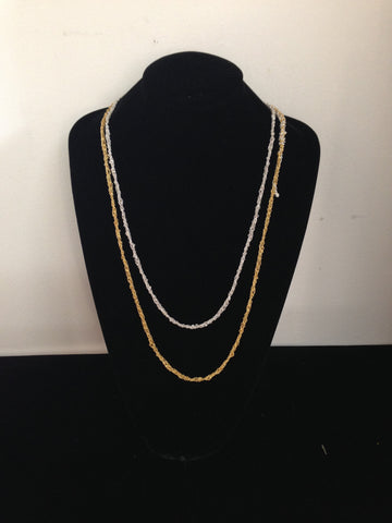 | Simple Necklace - Gold + Silver |