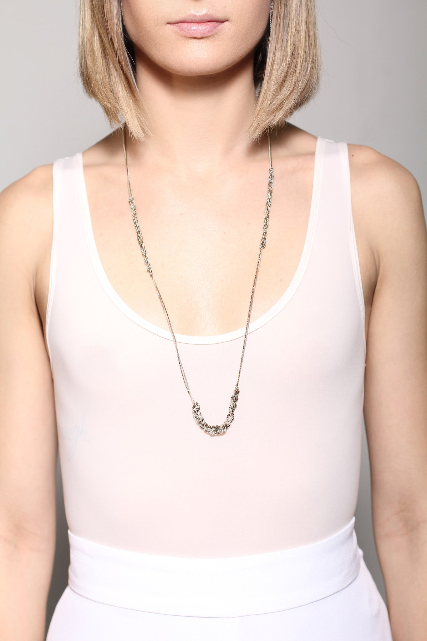 Spaced Bare Chain in Silver + Ultraviolet