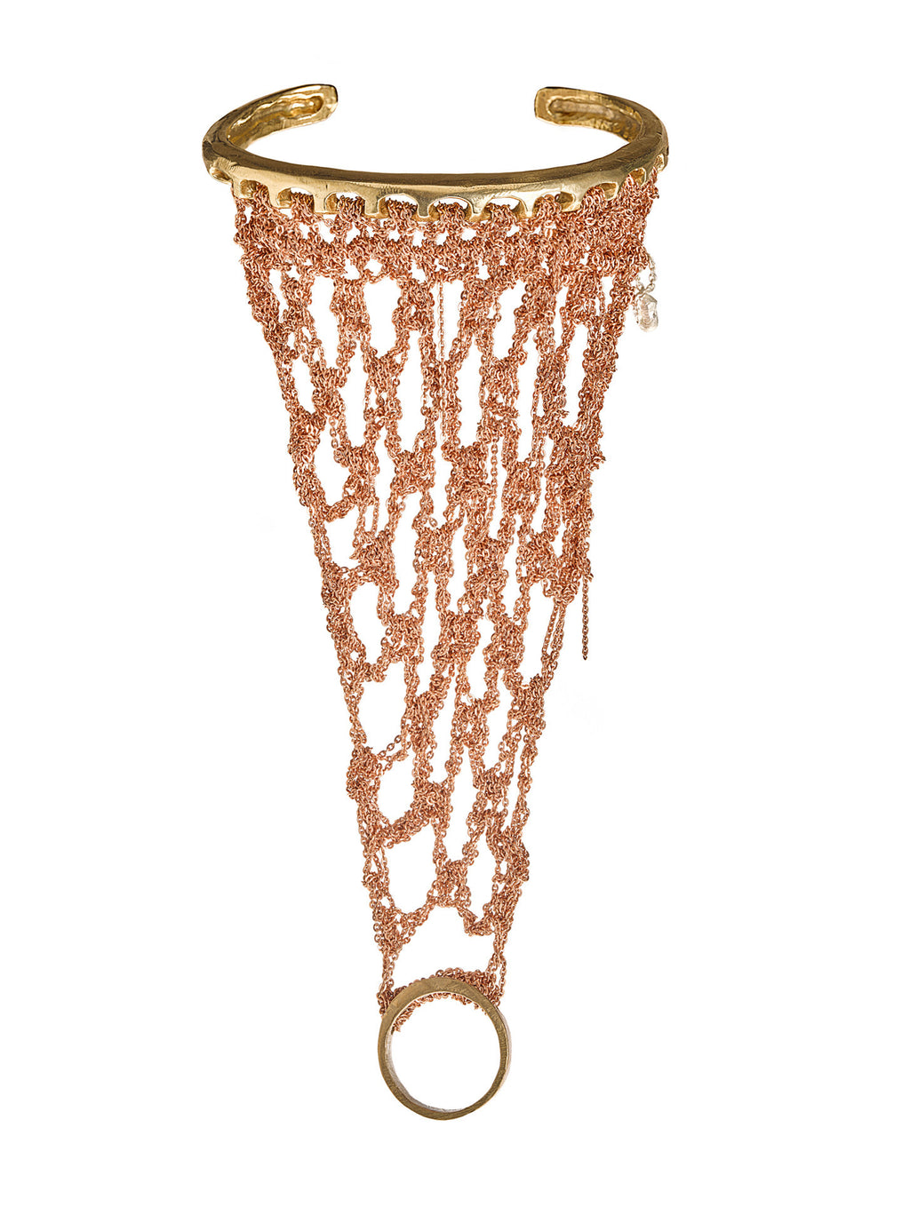 Slave Bracelet in Rose Gold with Brass Hardware