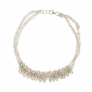 Crazy 8 Choker in Silver
