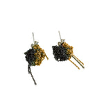 2-Tone Bead Earrings in Gold + Midnight
