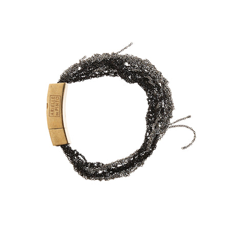 Multi Tress Mini Push Clasp - SS15