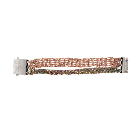 Split Band Bracelet w/ Square Clasp