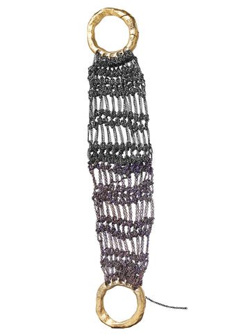 Wide Lattice Bracelet w/ Interlocking Clasp - AW14