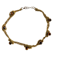 - Zen Nuggy Choker - Gold - Tiger's Eye -