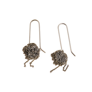 Hook Bead Earrings in Faded Silver