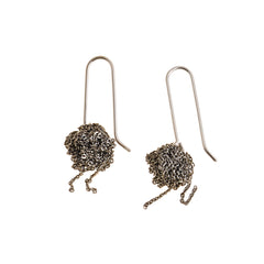 - Hook Bead Earrings - Faded Silver -