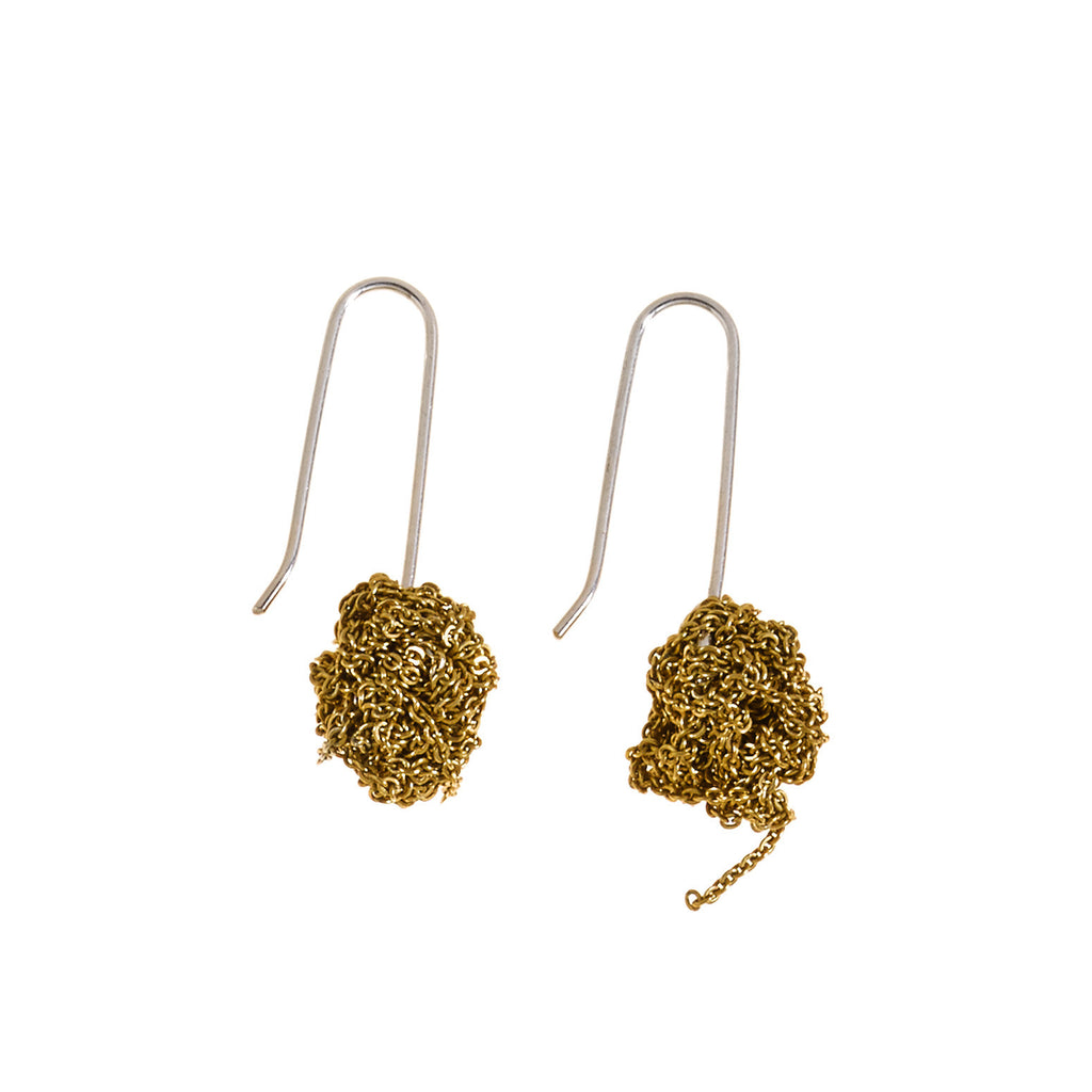 Hook Bead Earrings in Gold