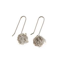 - Hook Bead Earrings - Silver -