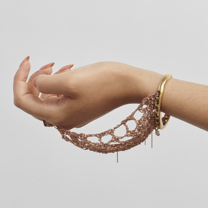 Slave Bracelet in Gold w/ Brass Hardware