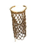 Slide-On Netted Sleeve in Burnt gold w/ Brass Hardware