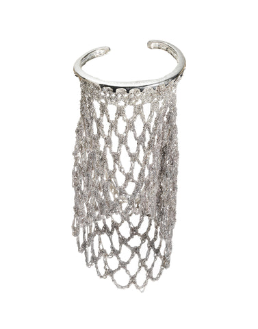 - Slide-On Netted Sleeve - Silver w/ Silver Hardware -