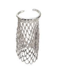 Slide-On Netted Sleeve - Silver w/ Silver Hardware