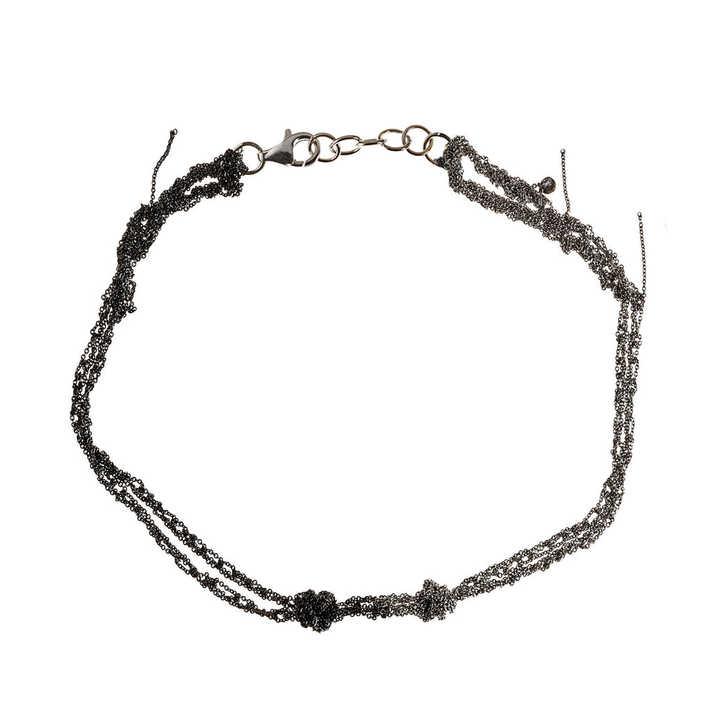 Siamese Choker in Ash + Charcoal